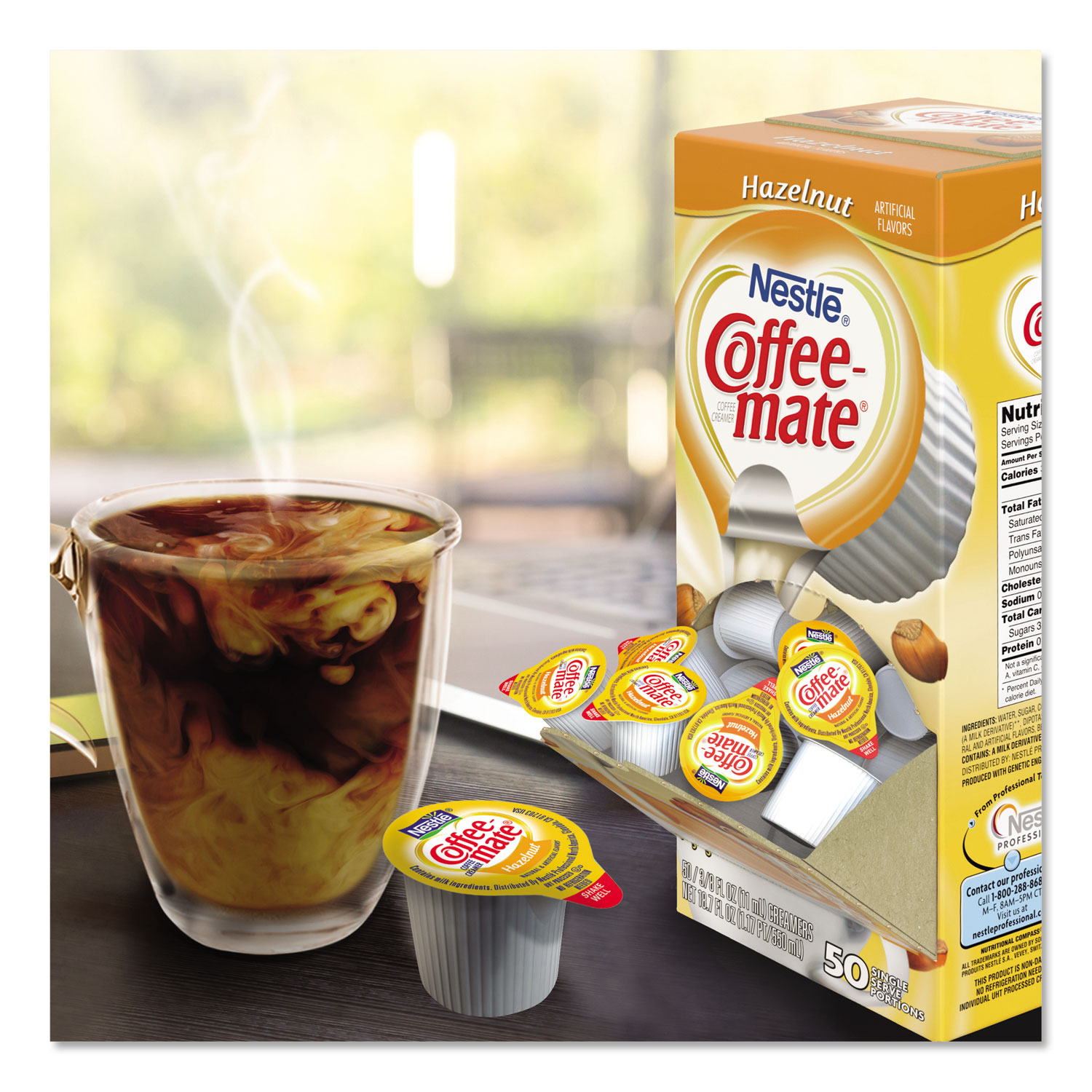 Hazelnut Creamer, .375 Oz., 200 Creamers/Carton   Affordable Office  Furniture And Supplies