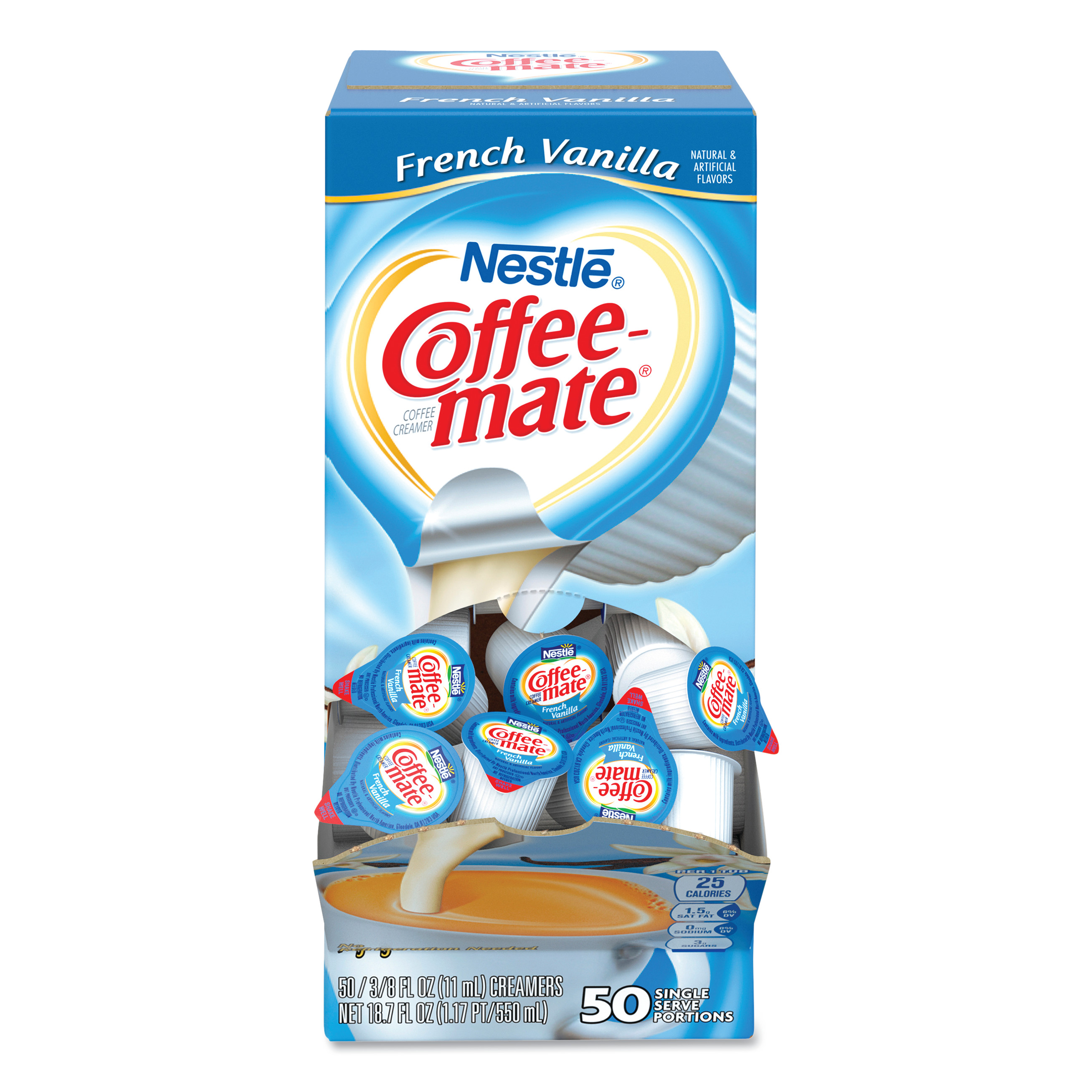Beau French Vanilla Creamer, 0.375oz, 50/Box   Affordable Office Furniture And  Supplies