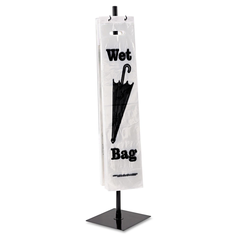 Umbrella Stand Black: Wet Umbrella Bag Stand, Powder Coated Steel, 10w X 10d X