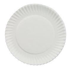 "White Paper Plates, 6"" dia, 100/Bag, 10 Bags/Carton AJMPP6GREWH"