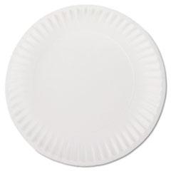 "White Paper Plates, 9"" Diameter, 100/Bag, 10 Bags/Carton AJMPP9GREWH"