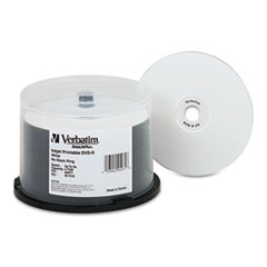 DVD-R Discs 4.7GB 8X DataLifePlus White Inkjet Printable, 50/PK Spindle