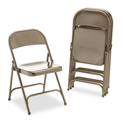 Metal Folding Chairs, Bronze, 4/Carton VIR16213K