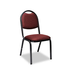Fabric Upholstered Stack Chair, 18w x 22d x 35-1/2h, Sedona Ruby/Black, 4/Carton
