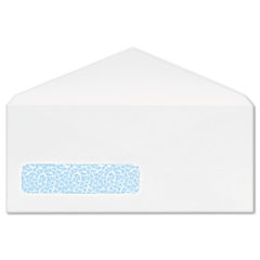 Poly Klear Security Window Envelopes, #10, 4 1/8 x 9 1/2, White, 500/Box