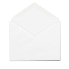Invitation Envelope, Gummed, #5 1/2, White, 100/Box