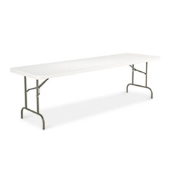 "ALERA 96"" X 30"" RESIN PLATINUM FOLDING TABLE"
