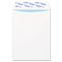 Grip Seal Security Tinted Catalog Envelopes, 9 x 12, 28lb, White Wove, 100/Box