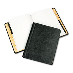 Corp Record/Minute Book Complete Outfit, Black, 75 Unruled Pages, 8 1/2 x 11