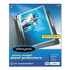 Heavyweight Top-Loading Sheet Protectors, Nonglare Finish, Letter, 100/Box