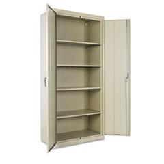 "Assembled 78"" High Storage Cabinet, w/Adjustable Shelves, 36w x 18d, Putty"