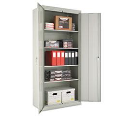 "Assembled 78"" High Storage Cabinet, w/Adjustable Shelves, 36w x 18d, Light Gray"