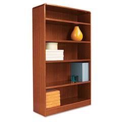 Alera Radius Corner Bookcase With Finished Back