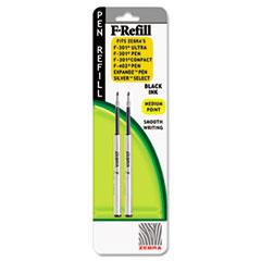 Refill for F-301, F-301 Ultra, F-402, 301A, Spiral Ballpoint, Med, Black, 2/Pack