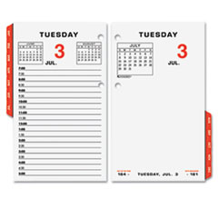 "COU ** Two-Page-Per-Weekday Calendar Refill, 3 1/2"" x 6"", 2013 at Sears.com"