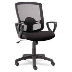 Etros Series Mesh Mid-Back Swivel/Tilt Chair, Black ALEET42ME10B