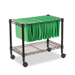 ALERA SINGLE-TIER ROLLING FILE CART, 24W X 14D X 21H, BLACK