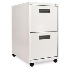 "Alera ""Two-Drawer Metal Pedestal File, 16w x 23-1/4d x 28-1/2h, Light Gray"" at Sears.com"