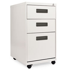 THREE-DRAWER MOBILE PEDESTAL FILE, 15-7/8W X 19-3/4D X
