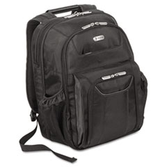"Zip-Thru Air Traveler Backpack, Fits 16"" Widescreen Laptop, Polyester, Black"