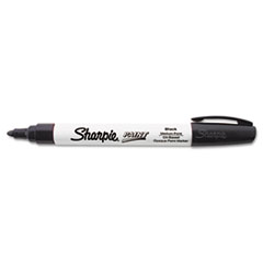 Permanent Paint Marker, Medium Point, Black