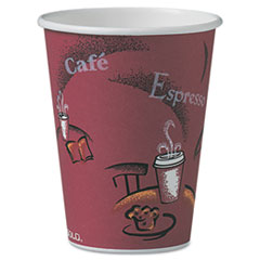 Bistro Design Hot Drink Cups, Paper, 12oz, 300/Carton SCCOF12BI0041