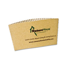 Hot Cup Sleeves, Fits 8oz Cups, 50/Pack SVAS01