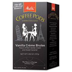 COFFEE PODS, VANILLA CREME BRULEE, 18 PODS/BOX