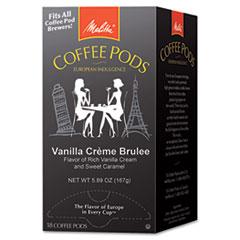 Coffee Pods, Vanilla Crème Brulee, 18 Pods/Box