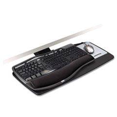 Knob Adjust Keyboard Tray With Standard Platform, 25-1/5w x 12d, Black