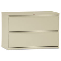 TWO-DRAWER LATERAL FILE CABINET, 42W X 19-1/4D X 29H,