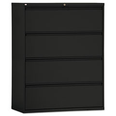 FOUR-DRAWER LATERAL FILE CABINET, 42W X 19-1/4D X 54H,