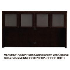 Mira Series Veneer Assembled Hutch Frame, 72w x 14d x 39h, Espresso