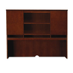 Sorrento Series Assmbld Hutch w/Wood Doors, 72w x 15d x 52-1/2h, Bourbon Cherry