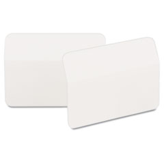 Angled Tabs, 2 x 1 1/2, White, 50/Pack