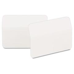 Angled Tabs, 2 x 1 1/2, White, 50/Pack