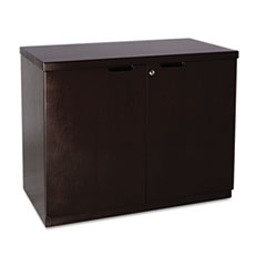 COU ** Mira Series Veneer 36W Hinged Door Credenza, 36w x 20d x 29h, Espresso at Sears.com