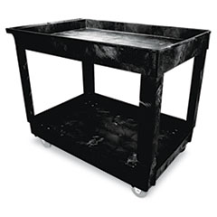 Service/Utility Cart, Two-Shelf, 24w x 40d x 31-1/4h, Black RCP9T6700BLA