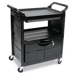 MotivationUSA * Utility Cart w/Locking Doors, 2-Shelf, 33-5/8w x 18-5/8d x 37-3/4h, Bl at Sears.com