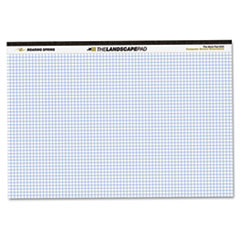 WIDE Landscape Format Quadrille Writing Pad, 11 x 9 1/2, White, 40 Sheets