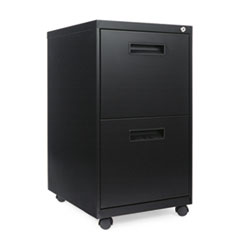 TWO-DRAWER MOBILE PEDESTAL FILE, 15-7/8W X 19-3/4D X