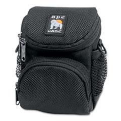 AC165 Digital Camera Case, Ballistic Nylon, 4 1/4 x 4 x 5 1/2, Black