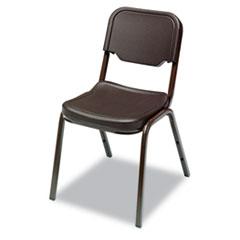 Rough N Ready Series Original Stack Chair, Resin, Espresso/Brown, 4/Carton