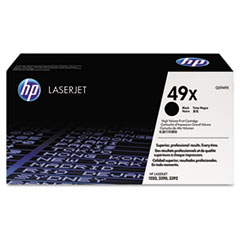 HP 49X, (Q5949X) High Yield Black Original LaserJet Toner Cartridge