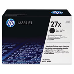 HP 27X, (C4127X) High Yield Black Original LaserJet Toner Cartridge