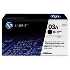 HP 03A, (C3903A) Black Original LaserJet Toner Cartridge