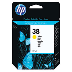 HP 38, (C9417A) Yellow Pigment Original Ink Cartridge