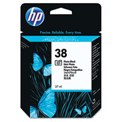 HP 38, (C9413A) Photo Black Pigment Original Ink Cartridge