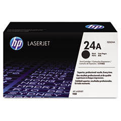 HP 24A, (Q2624A) Black Original LaserJet Toner Cartridge
