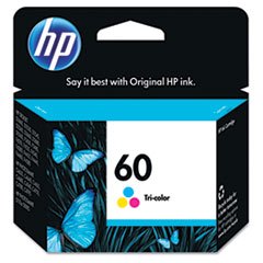 HP 60, (CC643WN) Tri-color Original Ink Cartridge